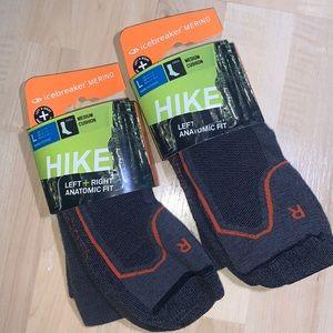 ICEBREAKER HIKE+ Merino Wool Crew Socks 2 pairs